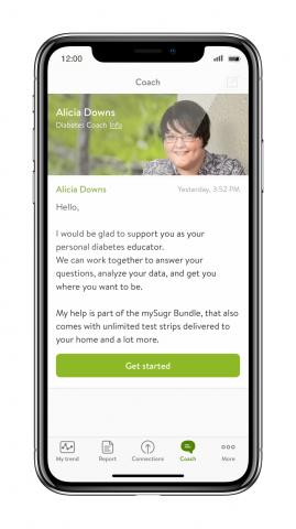 Diabetes coach in the mySugr app