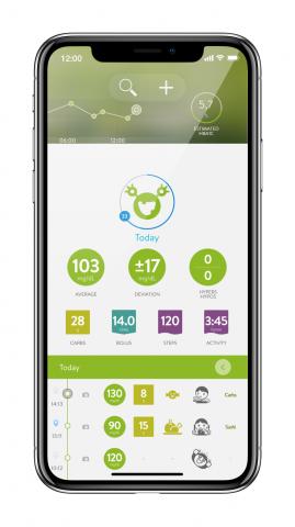 mySugr app home screen